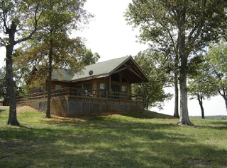 Cabin by the lake at Hugo Lake State Park, OK