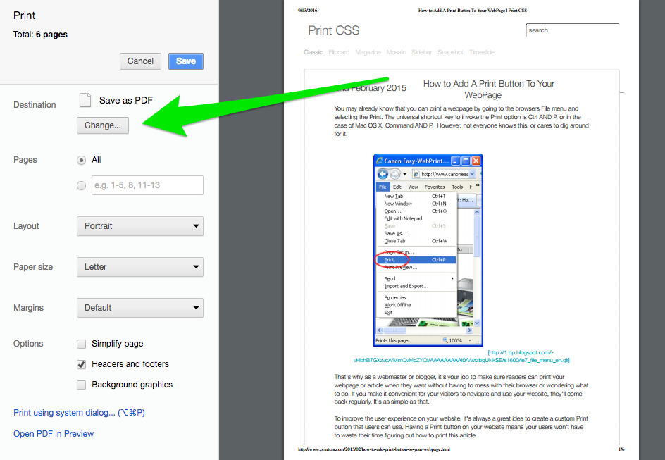 Step 2 Change Your Print To Save As PDF