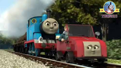 Wood clickety clack track Thomas the steam engine with little red motor Winston the Sodor quarry car