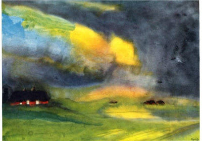 Emil Nolde - Colored sky above the marais., c.1940