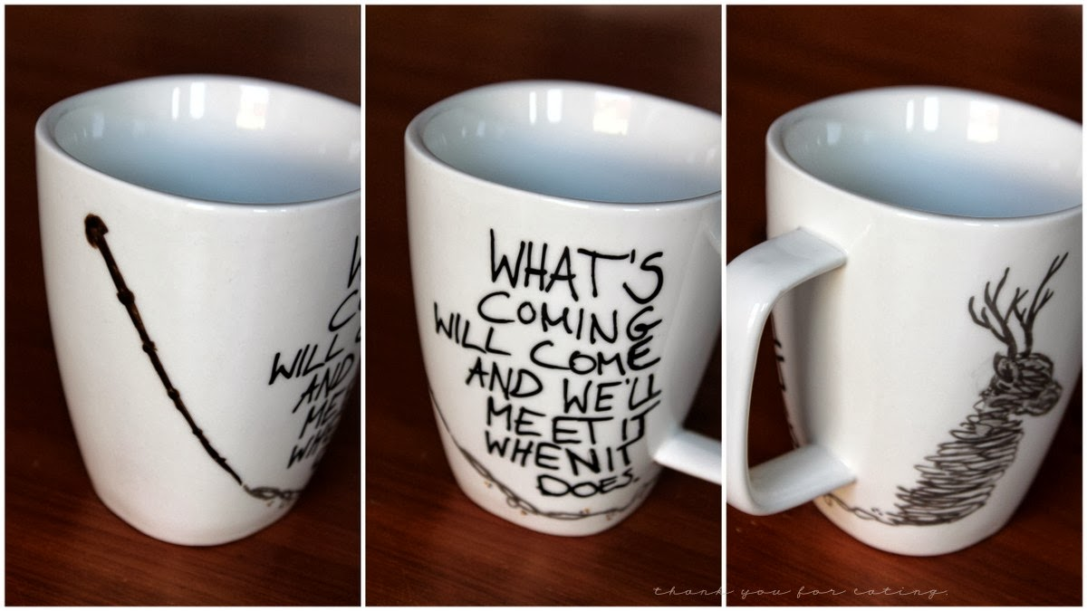 diy harry potter mugs gewinner tyfe. Black Bedroom Furniture Sets. Home Design Ideas