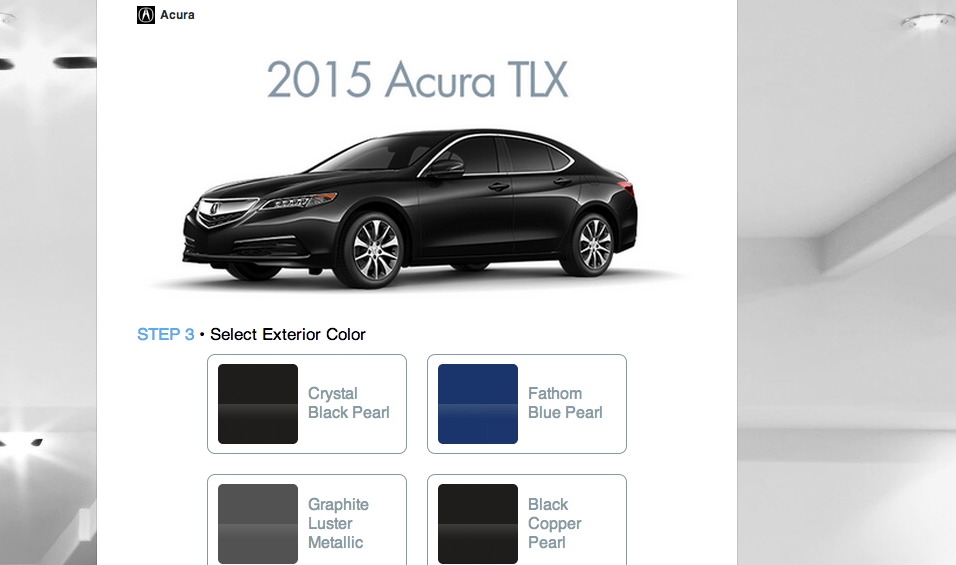 Now customize your Acura car within a Twee