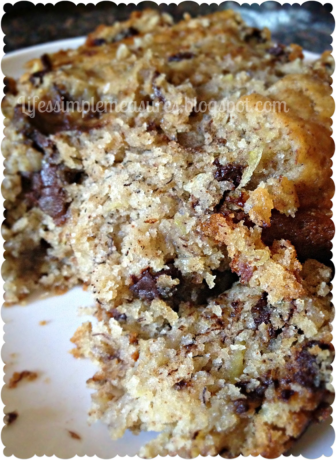 life's simple measures chocolate chip zucchini banana bread