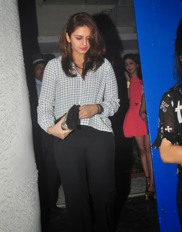 Bollywood actress Huma Qureshi snapped at Olive