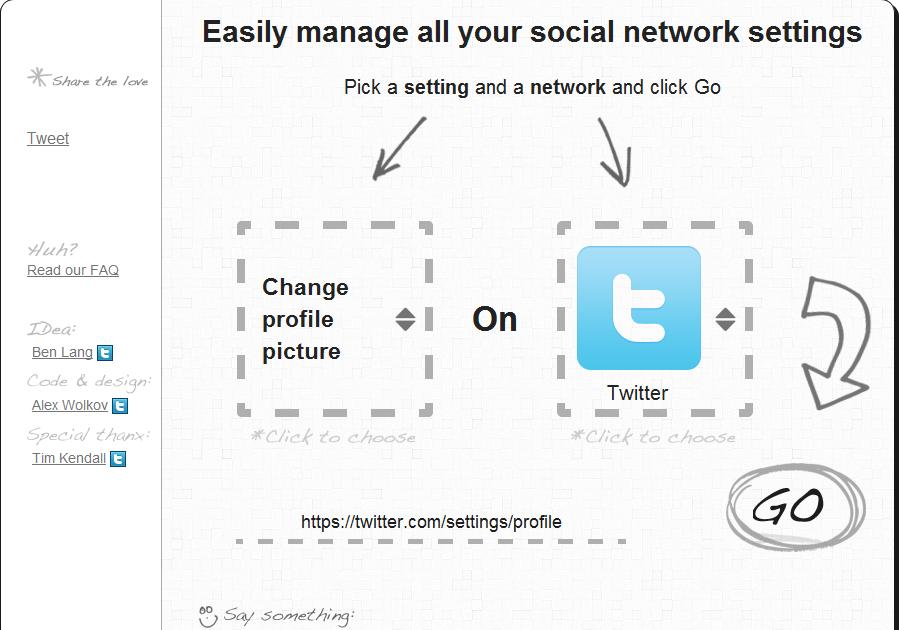 how to change network settings on program
