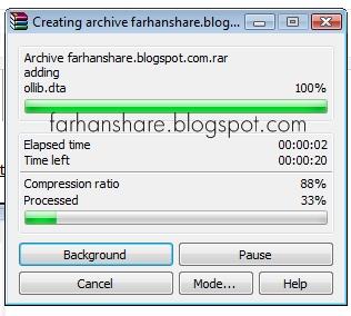 Cara Memberi Password Pada File Rar