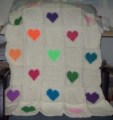Crochet Afghan Patterns With Hearts : Free Crochet Patterns By Cats-Rockin-Crochet