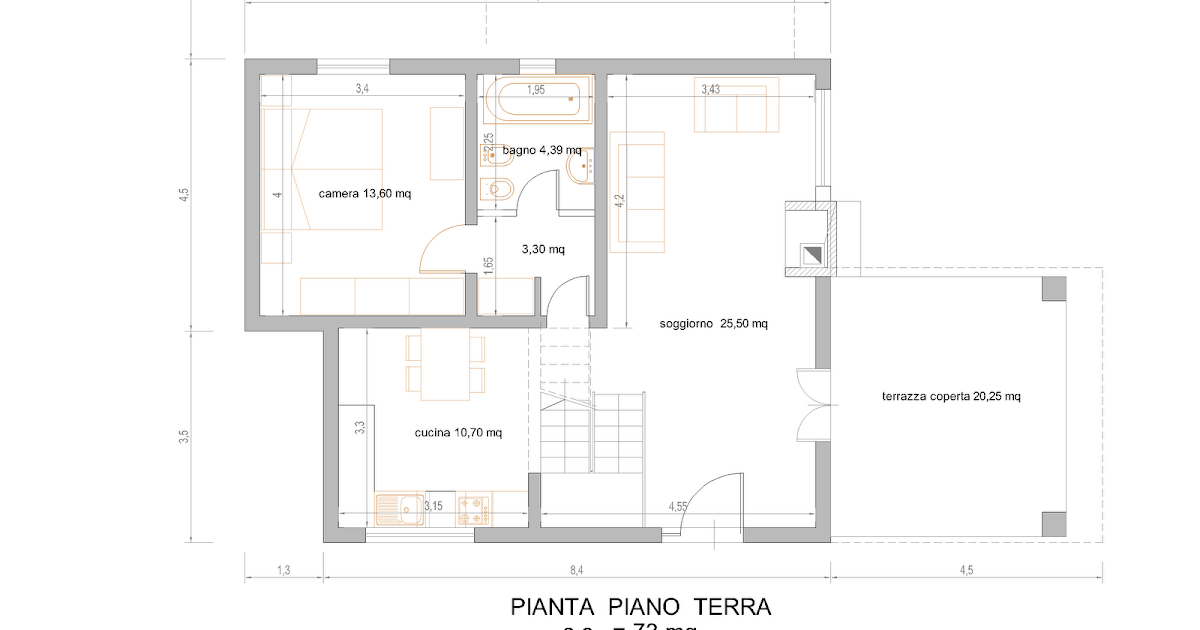 Progetti di case in legno casa 138 mq portico 20 mq for Progetti di portico anteriore