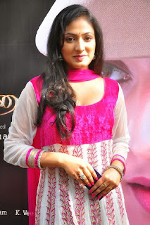 Actress Hari Priya Pictures in Salwar Kameez at 3aum Parvai Movie Launch  0013