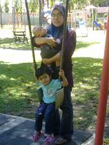 Bersama anak2 kesayangan - Alya & Aqil