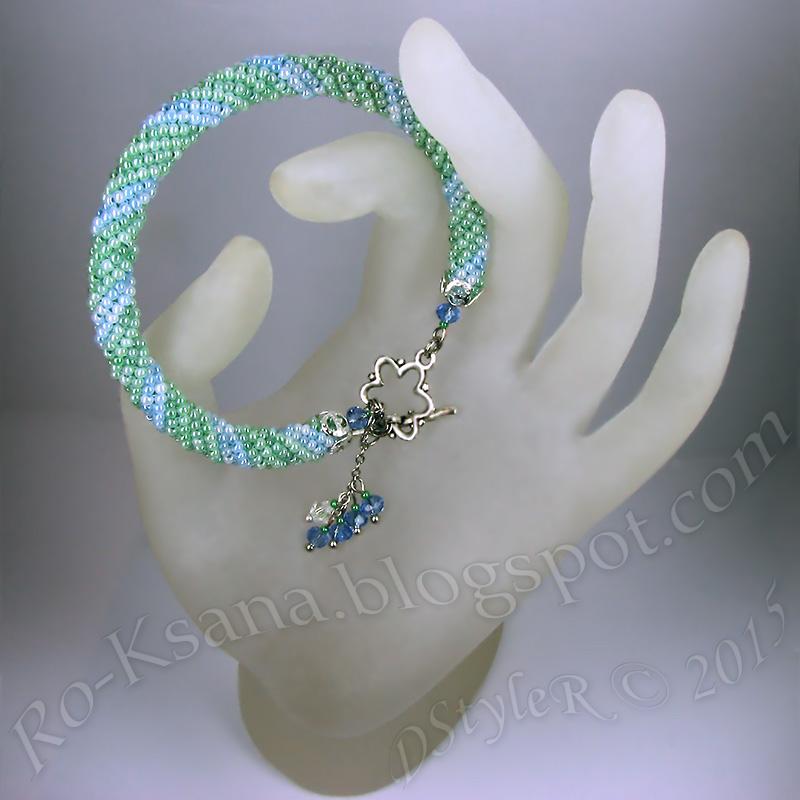 Handcrafted bracelet beaded tubular ndebele rope Браслет спиральный ндебеле жгут Ручная работа бисероплетение подарок девушке