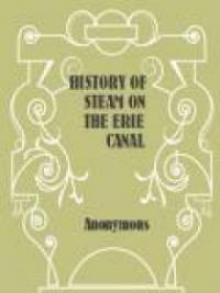 History of Steam on the Erie Canal