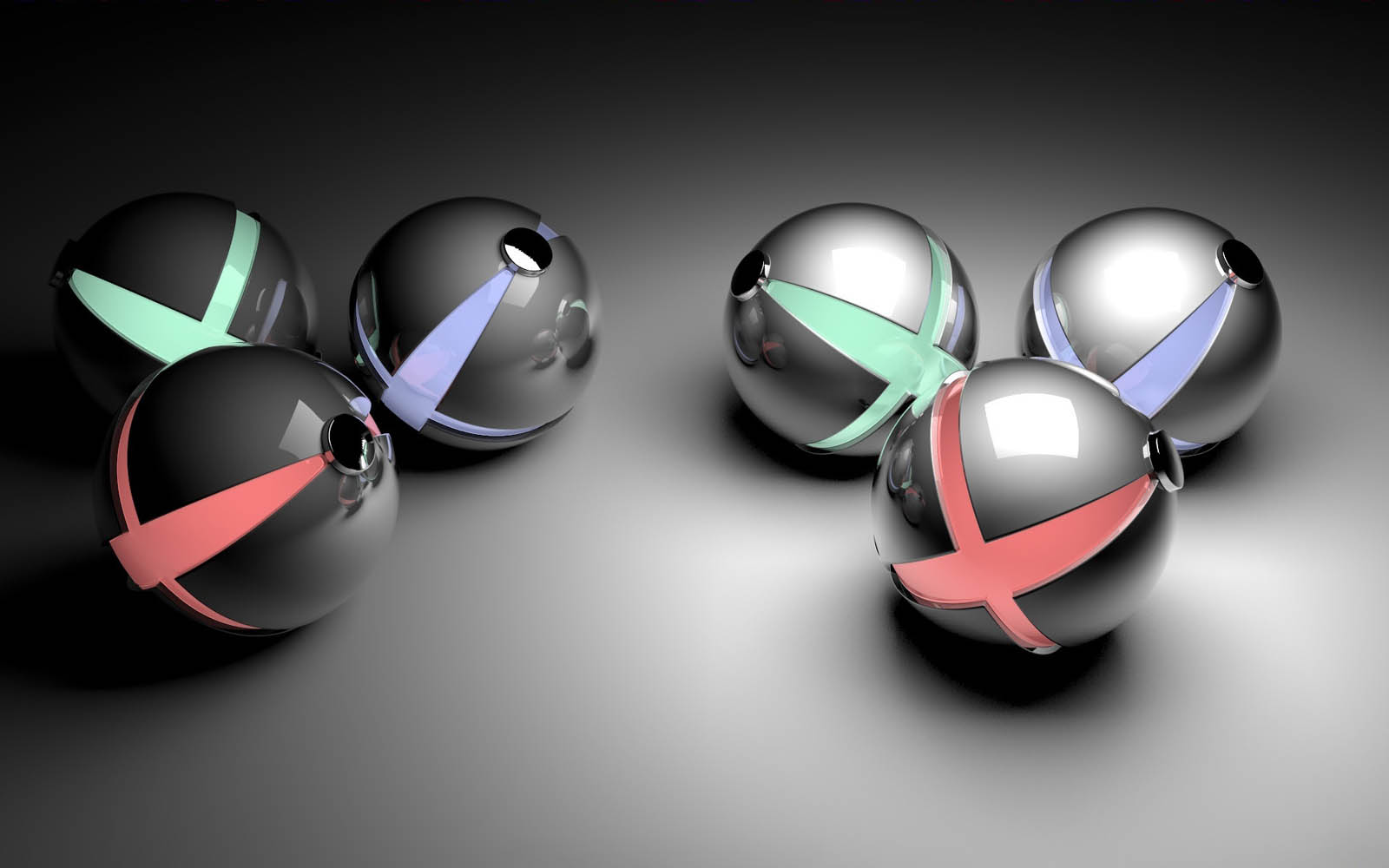 Wallpapers abstract balls wallpapers for Wallpaper modern 3d