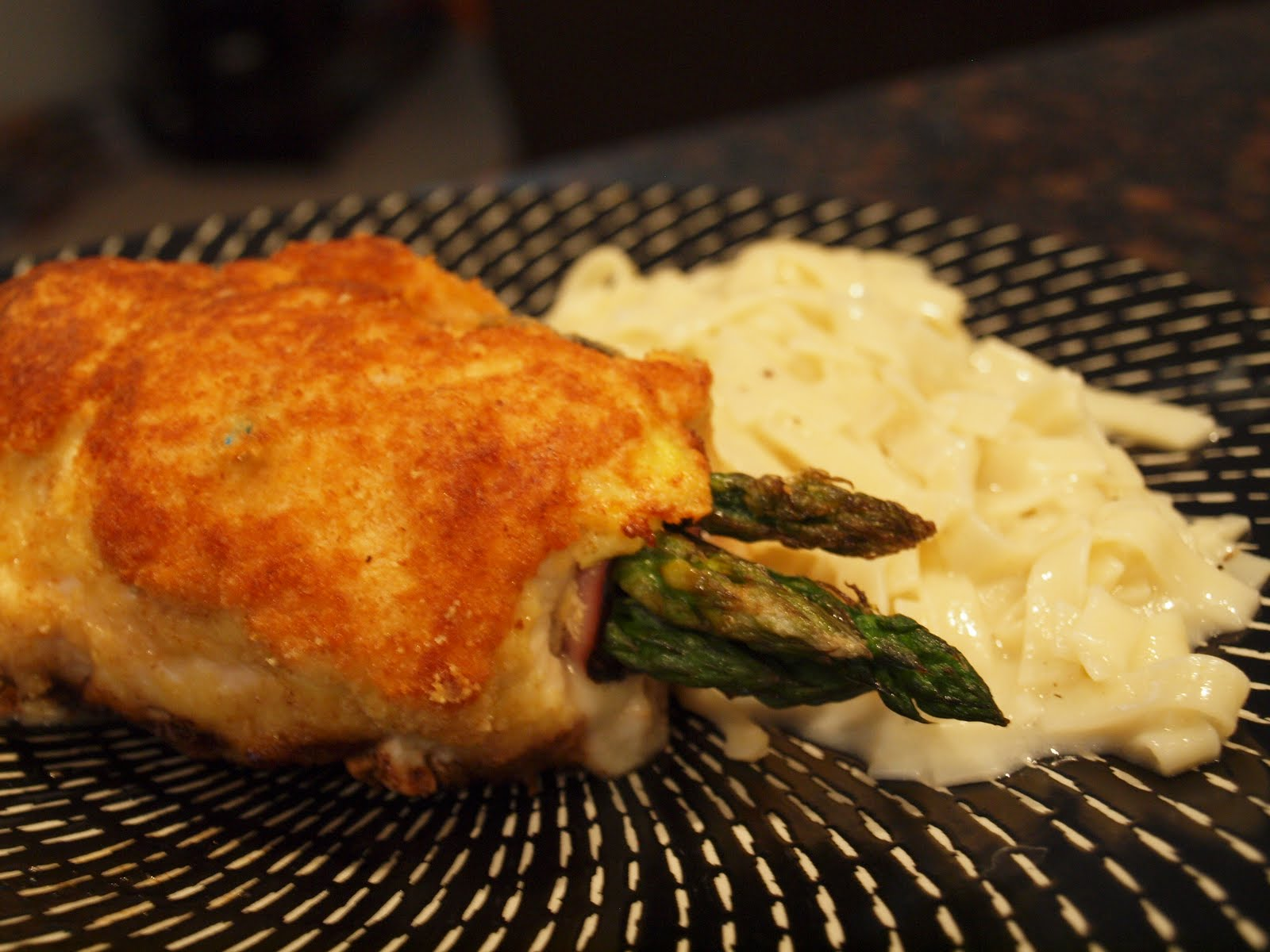 Dishin' It Out: Asparagus-stuffed Chicken Rolls