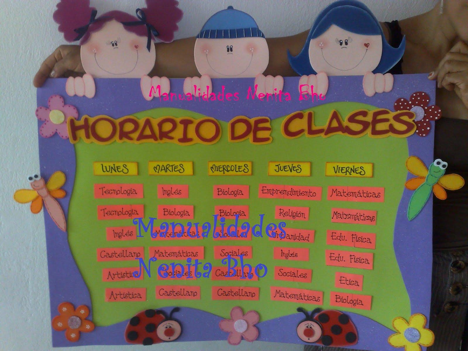 Manualidades nenita bho horario de clases for Manualidades primaria