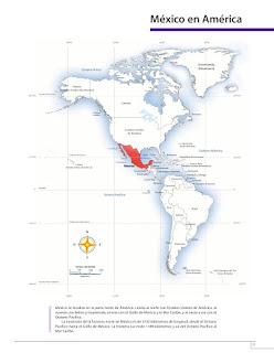 Apoyo Primaria Atlas de México 4to grado Bloque I lección 2 México en América