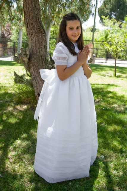 Vestidos de comunion organdi suizo