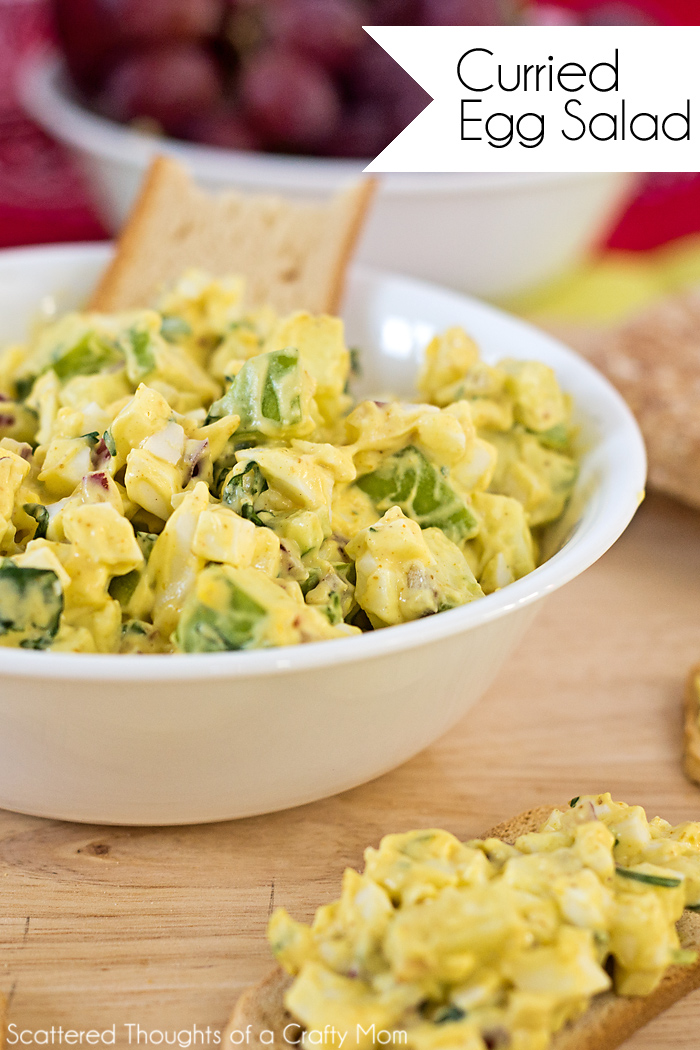 Curried Egg Salad Recipe   Scattered Thoughts of a Crafty Mom