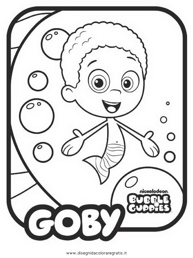 Bubble Guppies Para Dibujar Pintar Colorear Recortar Y Pegar