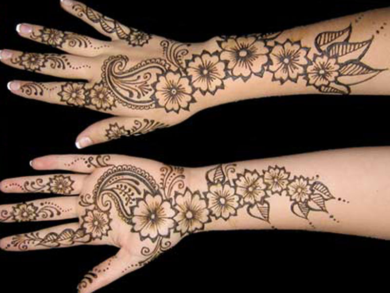 New Stylish Bridal Mehandi Design HD Desktop Wallpapers Download ...