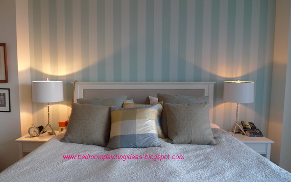 Bedroom painting ideas bedroom painting ideas stripes for Bedroom stripe paint ideas