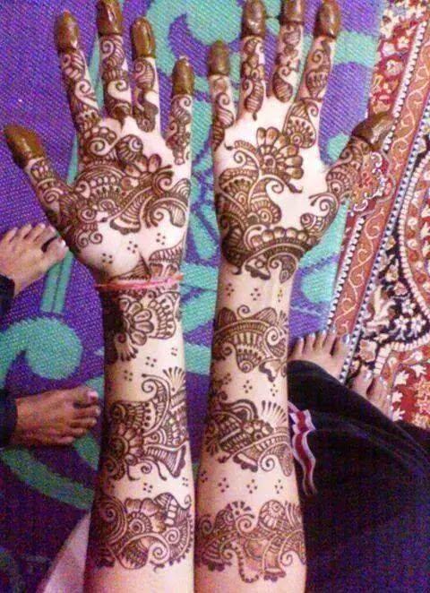 Mehndi Design Back Hand Hd : Mehndi design full hand hd minimalist cuonun