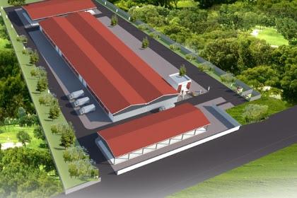 Jasa Pembuatan Desain Pabrik manufakturing Gudang Penyimpanan dengan harga desain cuma 450 ribu