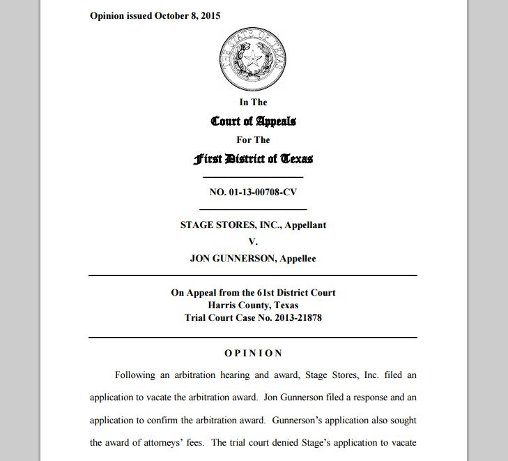 arbitration award and opinion Superior court of new jersey appellate division docket no a-3968-15t2 robert j curran, plaintiff-appellant the opinion of the court was delivered by currier, jad in the act to either modify or vacate the arbitration award, we.
