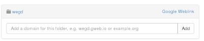 añadir dominio a gweb.io