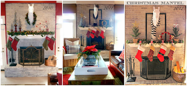 Our Fifth House - Christmas Mantels Past