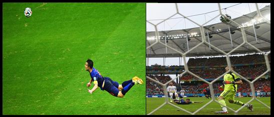 Peixinho de Van Persie Holanda e Espanha Copa do Mundo 2014