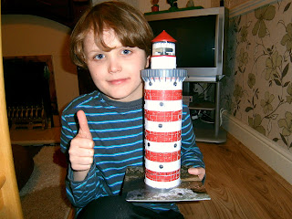 10 year old completed 3d puzzle lighthouse