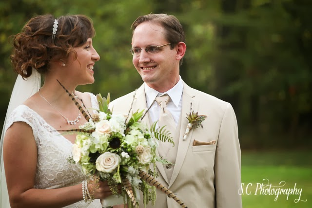 Bride and groom, niles, michigan
