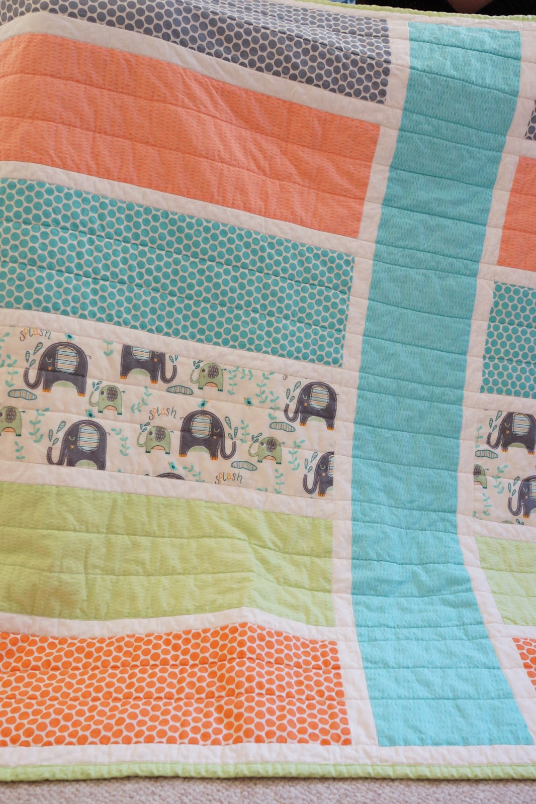 Easy Quilt Patterns For Baby : Lo, Ray, & Me: Easy Baby quilt