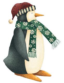 Imagens para decoupage de pinguins natalinos