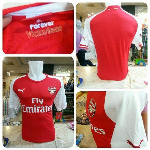 Photo jersey arsenal home official terbaru musim 2015