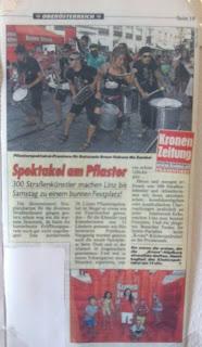 Batucada Madrid - Los periodicos de Austria se hacen eco