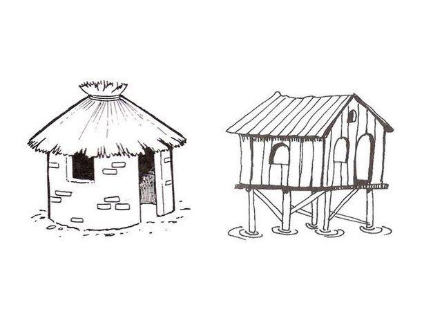 Menta m s chocolate recursos y actividades para educaci n infantil dibujos para colorear - Distintos tipos de casas ...