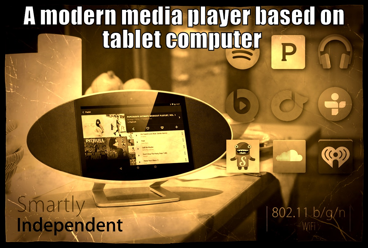 A modern media player based on tablet computer