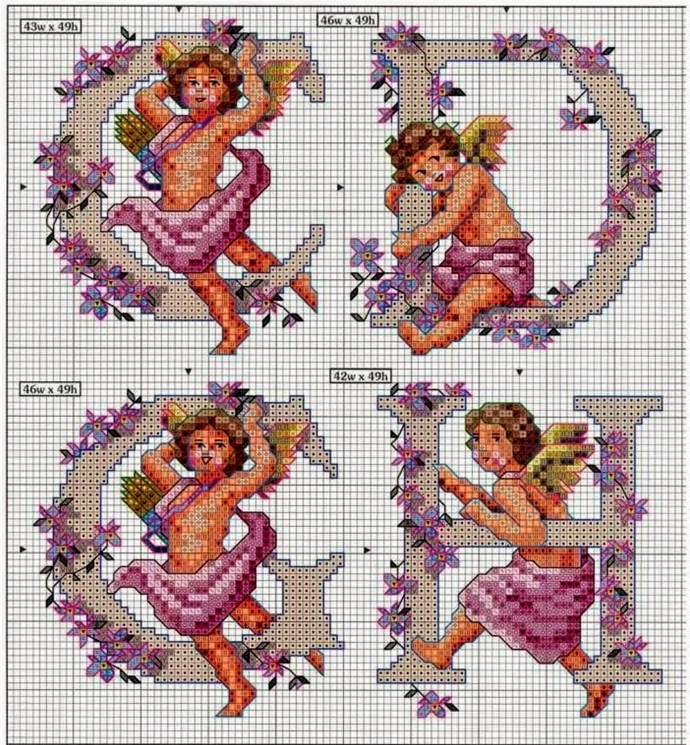 Professione donna schemi per il punto croce alfabeto con for Schemi punto a croce alfabeto