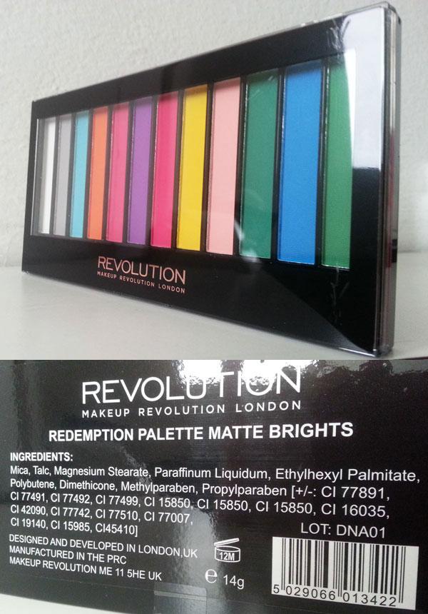 Makeup Revolution - Redemption Palette Matte Brights