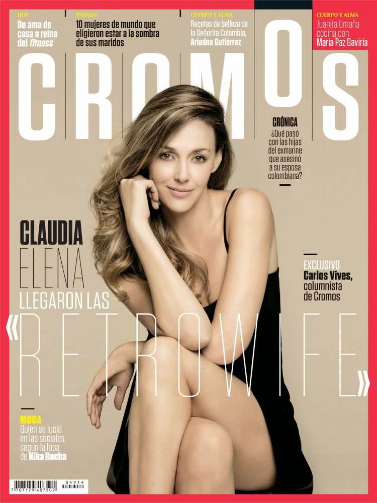 Model @ Claudia Elena - Cromos Colombia, February 2015
