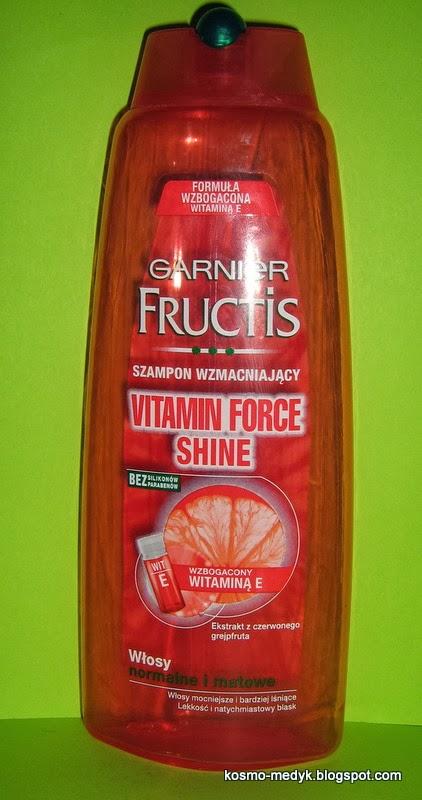 O jednym takim, który zachwycił moje włosy:) Garnier Fructis Vitamin Force Shine