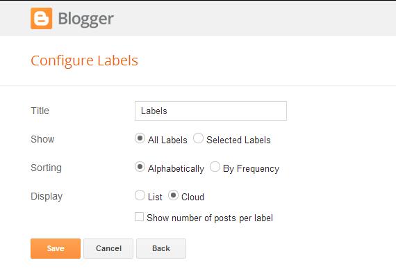 Adding Labels Cloud Widget : eAskme