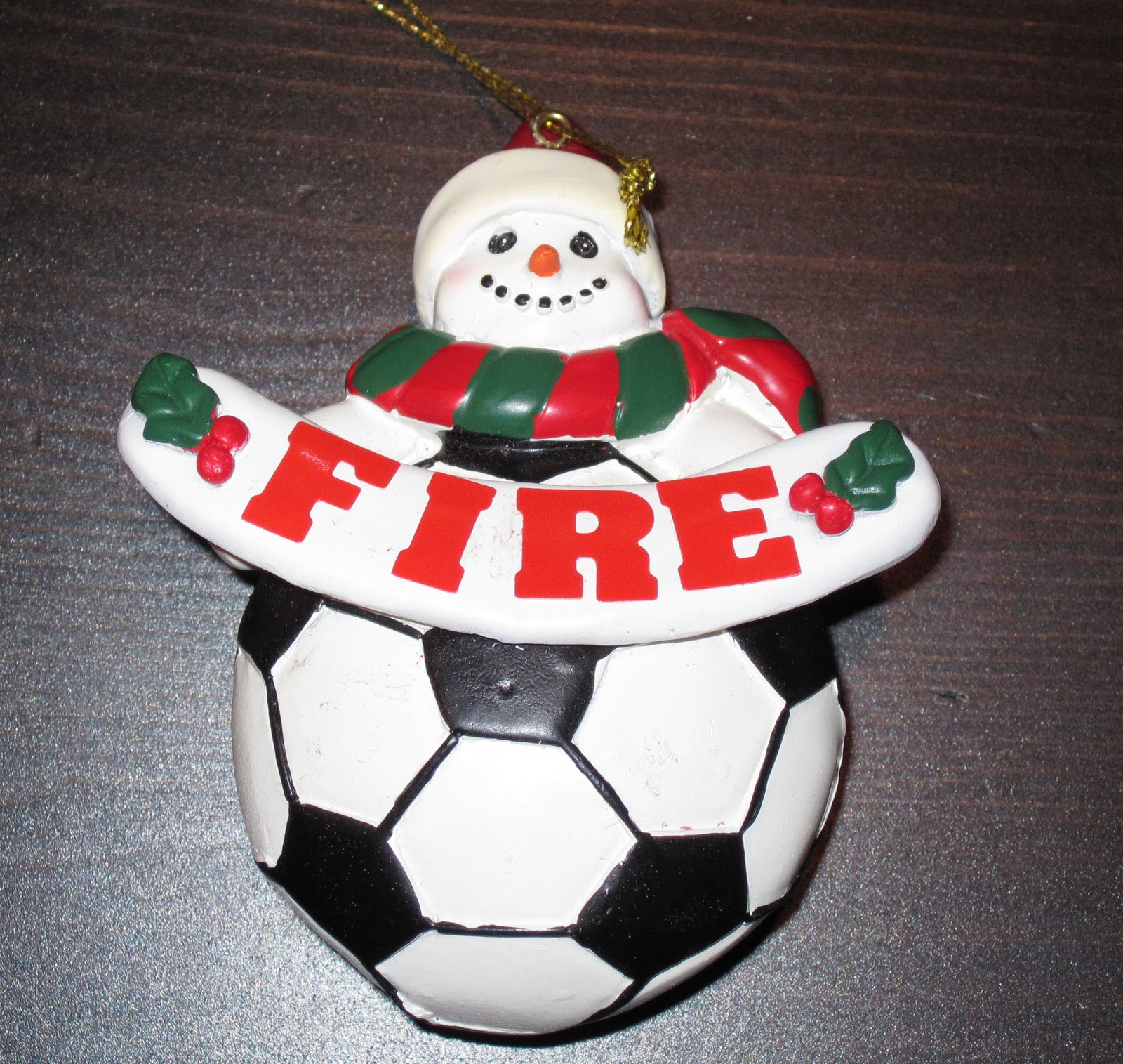 Soccer ornaments - Chicago Fire Soccer Ornaments