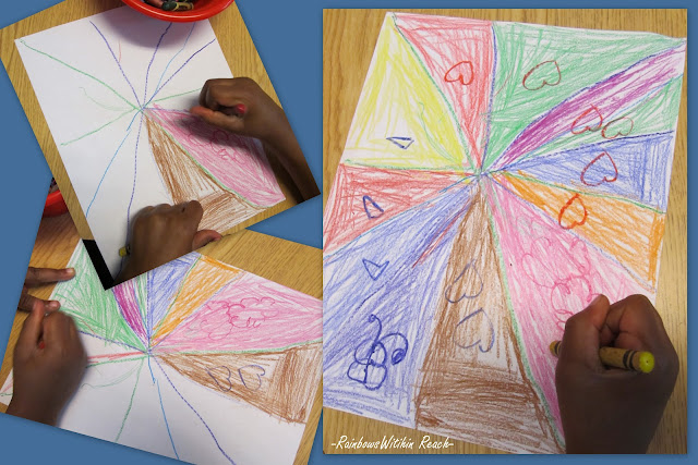 photo of: Triangles within drawing, Early childhood education shapes