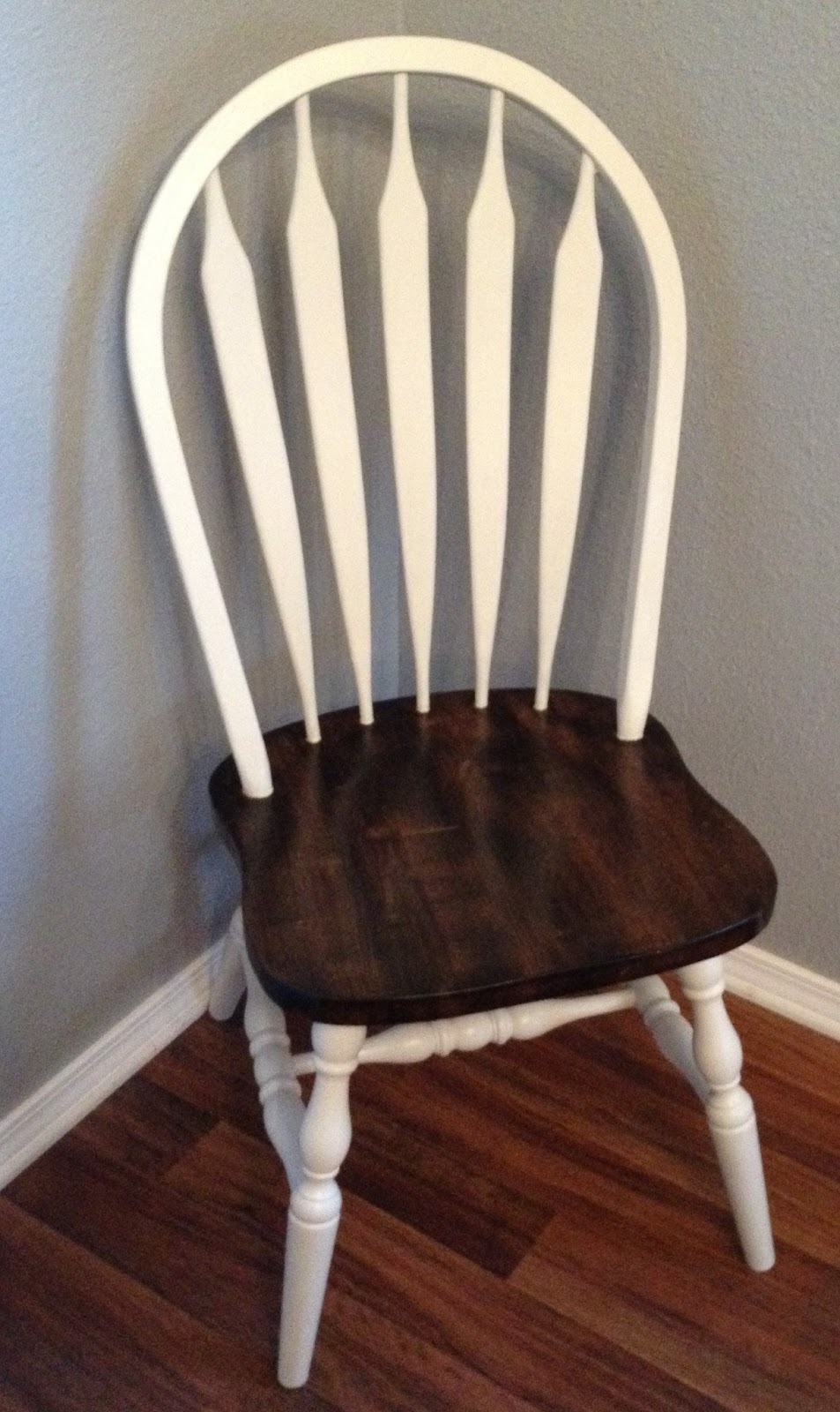For instant beauty add elbow grease your everyday for Painted kitchen chairs