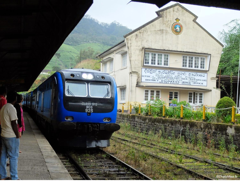 Train gare de Nuwara Eliya sri lanka direction Ella