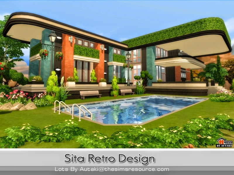 Casa moderna sita retro the sims 4 pirralho do game for Casas modernas the sims 4