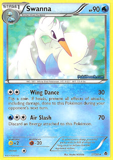 Swanna Emerging Powers set Pokemon Card